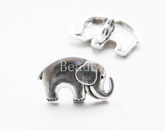 12pcs / Elephant / Oxidized Silver Tone / Base Metal / Spacer (YA16939//E207A)