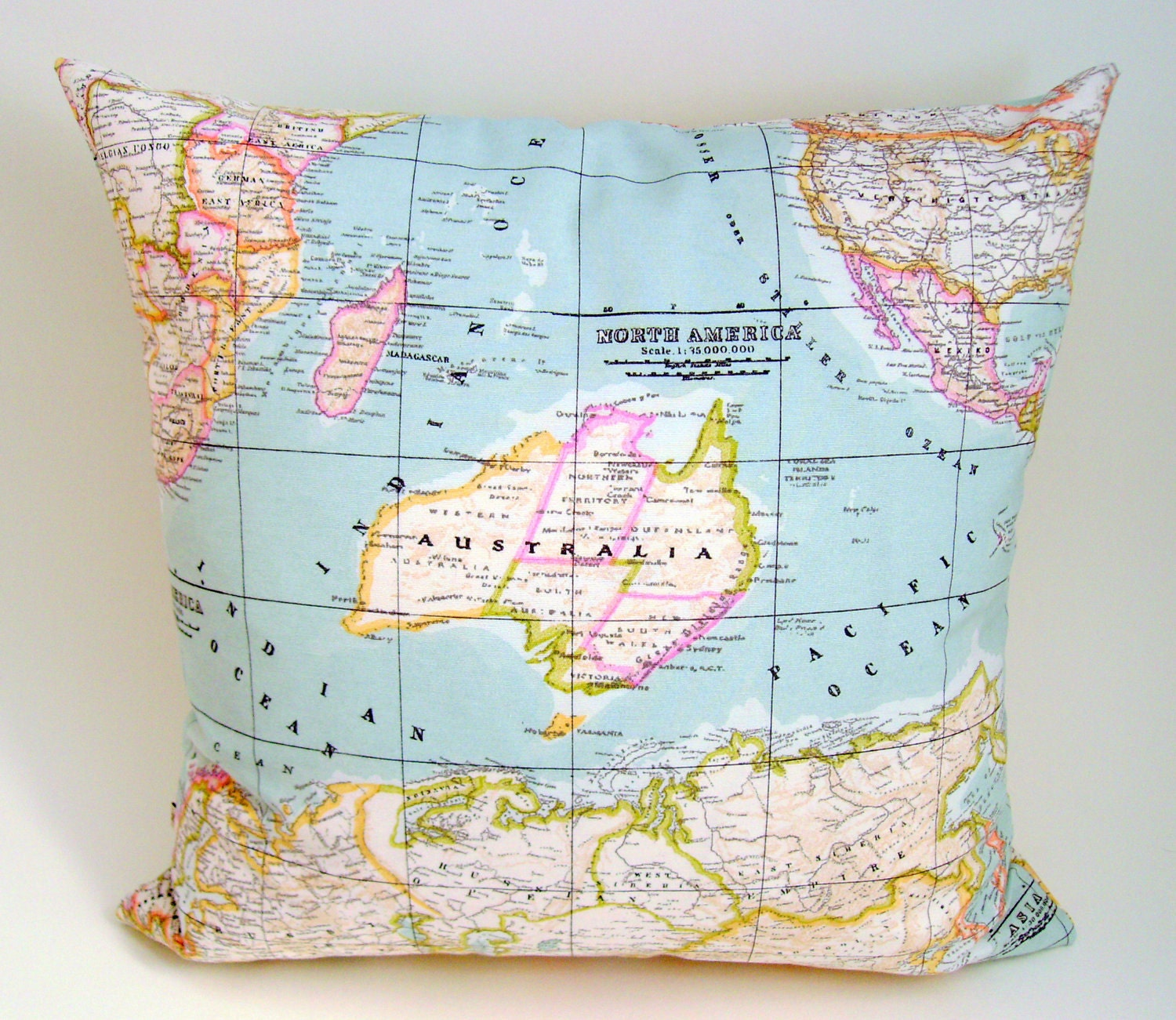 World Map Pillow Cover World Map Cushion