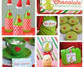 Grinch Christmas Printable Party Printables Set (no invitation)- instant download
