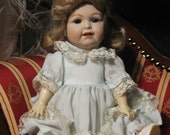 Adorable Vintage French German Jointed Composition and Bisque Porcelain Toddler Doll