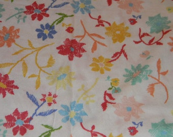 Multicolored Flowered Crib/Toddler Bed Fitted Sheet