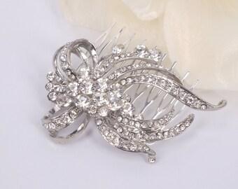 Marie- Rhinestone Bridal Comb