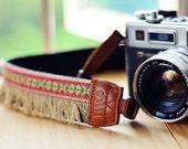 Red Bohemian Camera Strap for DSLR / SLR Quick Release
