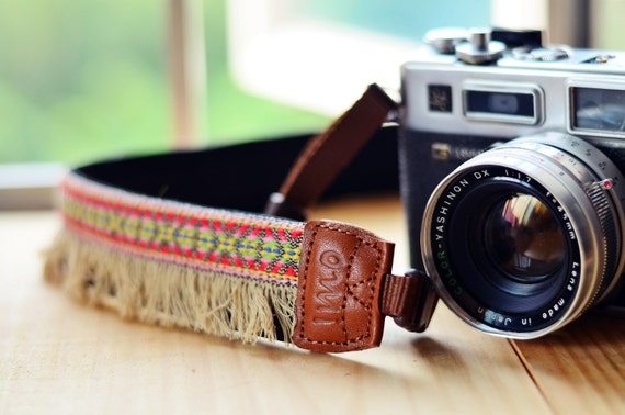 Red Bohemian Camera Strap for DSLR / SLR Quick Release