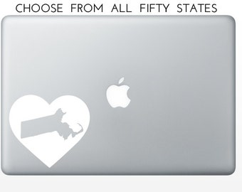 Big Heart State Love Decal, New Mexico, New York, North Carolina, North Dakota, Ohio