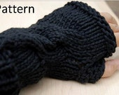 Fingerless Gloves Knitting Pattern, Cable knit pattern