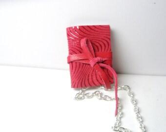 Miniature  Book Necklace  & Vintage  Key Heart