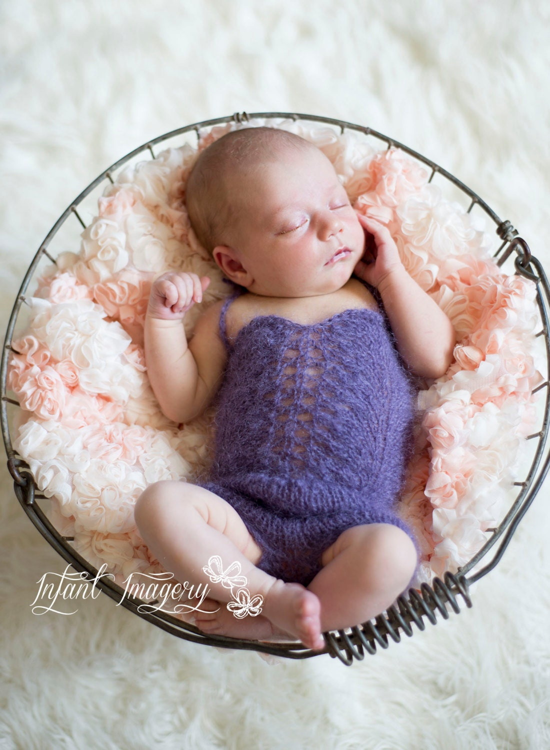 Knitting For Newborn Photography : Newborn photo prop romper knit pattern onesie