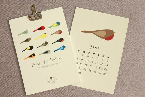 Birds of feather calendar