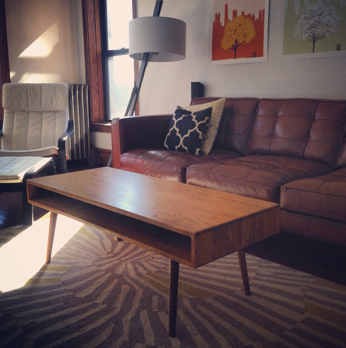 Mid Century Coffee Table Solid Wood MADE TO ORDER By
