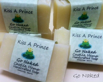 Handcrafted Castile soap Go Naked  Set of 2 Bars  ALL NATURAL