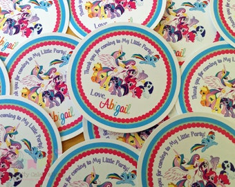 My Little Pony Inspired Collection Favor Tag -Baby Shower Tags, Personalized Favor Tags, Set of 12 Thank You Tags, Gift Tags