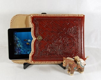 "SALE! - Hand Tooled Leather 7"" Tablet Sleeve"