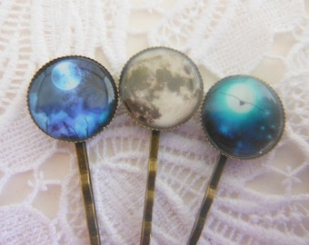 Blue Moon Collection Hair Clips Bobby Pins