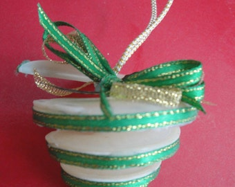 Christmas Seashell Bell Ornament