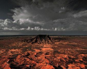 Desert Mesa Wilderness Photo - Glass Mountain - Fine Art Photography - oklahoma plateau 12x18