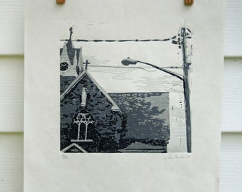 Church in Upstate New York  -Hand Pulled, Limited Edition