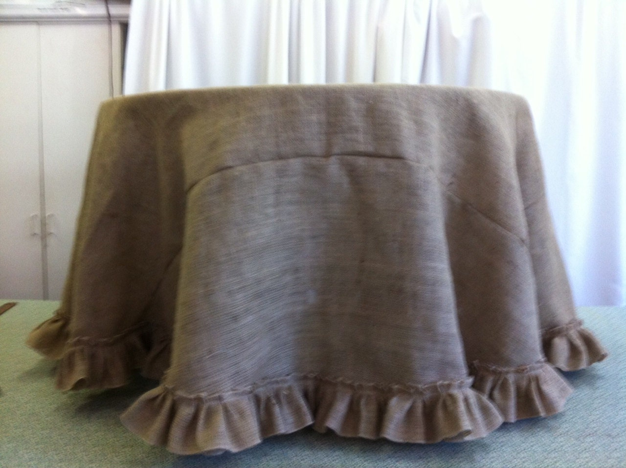 Table Cloth For Round Table Burlap Tablecloth Etsy