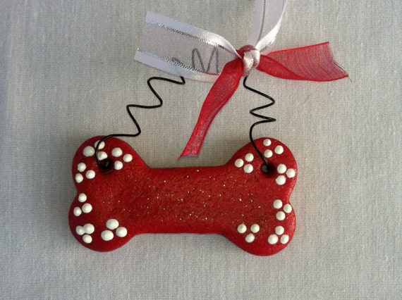 Personalized Dog Bone Ornament Or Magnet Christmas Ornament