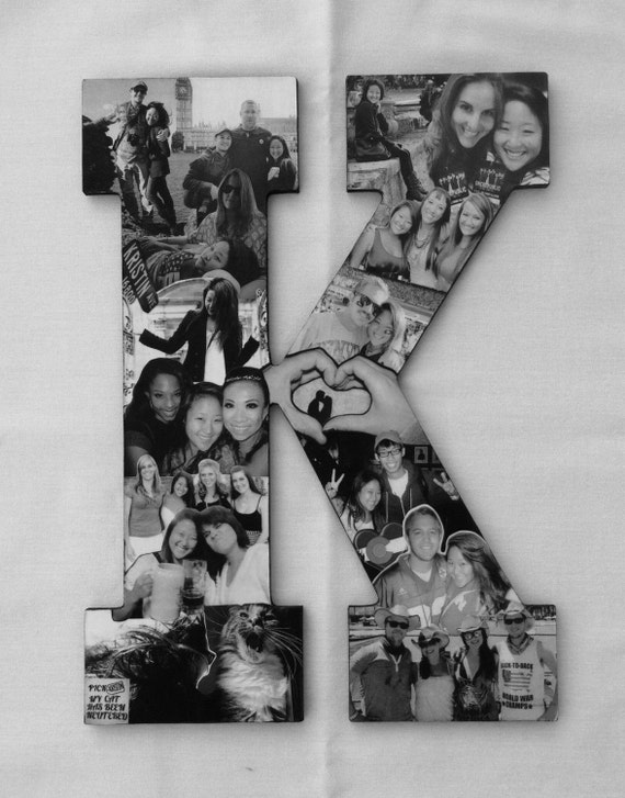 custom photo letter collage alphabet letter by With letter photo collage online