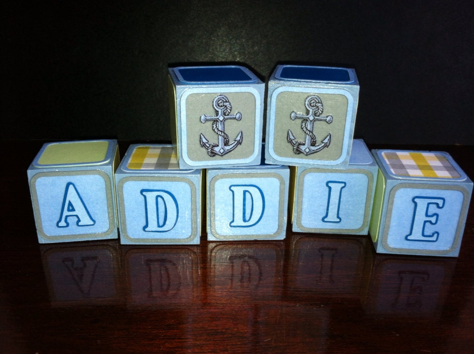 custom wooden alphabet blocks for baby shower maternity