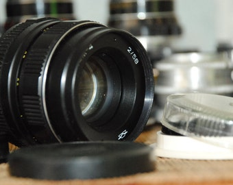 HELIOS 44M-4 58mm /1:2 Russian Soviet Vintage USSR Lens Zenit Pentax Canon with filter