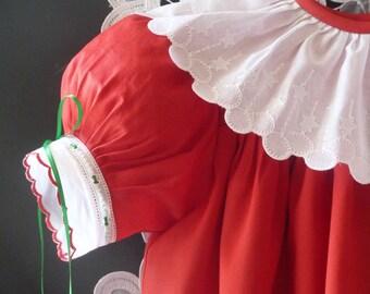 Handmade Christmas/Holiday Girls Dress