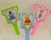 Winnie the Pooh Baby Cupcake Picks/Baby Shower/First Birthday / Pooh Baby