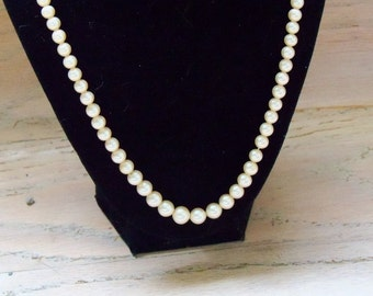 Necklace Marvella Faux Pearls Off White Vintage Wedding Jewely Bridal Party Special Occasion Gift Idea