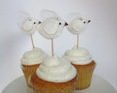 Cupcake Pics - Bridal Shower - Flock of 6 - Made to Order!