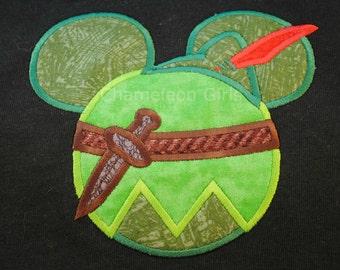 Peter Pan Mickey Head Disney inspired T Shirt