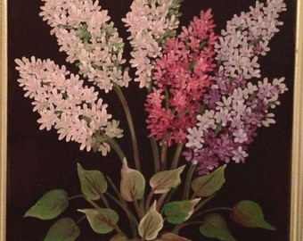 Painting of lilacs