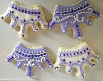 Purple Princess Tiara Sugar Cookies