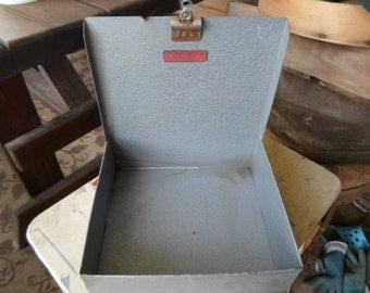 Vintage 1950s to 1960s Metal Box For Repurposing or Use for a Store Display Clip For Sign Parts Bin Industrial