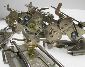 Greist Destash Lot: Rufflers, 5-Stitch Ruffler, and Tuck Attachments - Assortment of 6 Vintage Sewing Machine Attachments