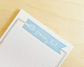 Magnetic To-Do List. Magnetic Grocery List. Kitchen Notepad. Shopping List. Fridge Note Pad.