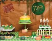 Zelda Party Set - Birthday Printable Decorations - PERSONALIZED SET