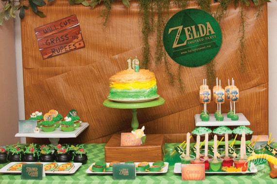 Zelda party set birthday printable decorations for Decoration zelda