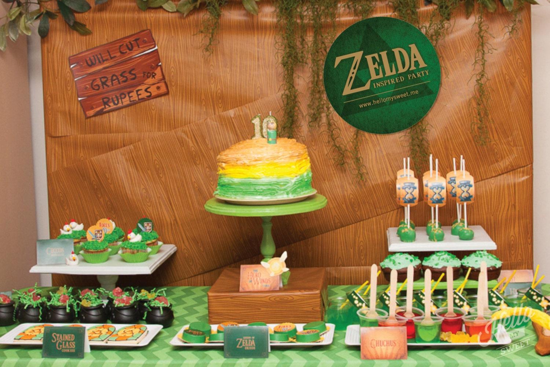 Birthday Birthday Party Ideas: Zelda Party Set Birthday Printable Decorations
