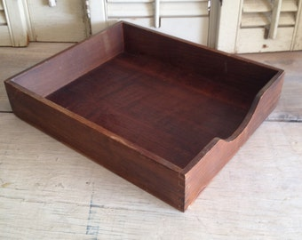 Wood Box Dove Tail Wood Box File Holder