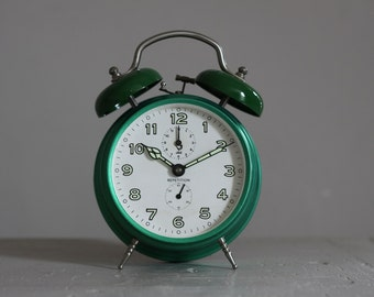 Vintage French Jaz Alarm Clock  50's Retro/ Mid Century Upcycled