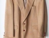 Vintage Men's Size 46L Tan Camel Hair Blazer