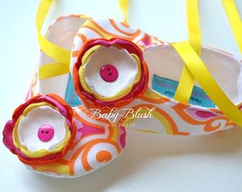 Yellow Honore Sorbet Soft Ballerina Slippers Baby Booties