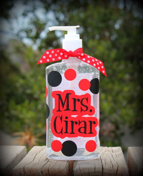 Super Cute Custom/Personalized Teacher Appreciation Gift Hand Sanitizer for School Days