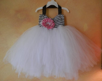 Black And White Tutu Dress