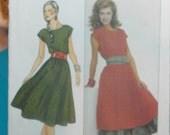 misses dress peticoat and sash uncut pattern Butterick 4395