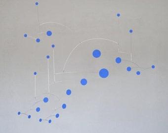 Blue Dots Metal Art Mobile