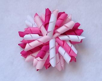 Korker Hair Bow, Pink Korker, Spring/Easter Hair Bow, Summer Hair Bow, Corker Bow Perfect for Pigtails, Spring Korker Bow, Korker Bows