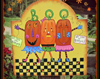 E PATTERN - Boo Girls - Bright and Colorful Halloween Fun - Inspired by Terrye French & Painted by Sharon Bond
