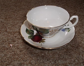 vintage bone china royal grafton cup saucer set